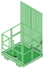 DBI-SALA Advanced Silver and Green Forklift Basket Davit Base - 840779-00604 -- 840779-00604