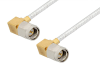 SMA Male Right Angle to SMA Male Right Angle Cable 48 Inch Length Using PE-SR405FL Coax -- PE3646-48 -- View Larger Image