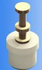 PTFE Insulated Solder Terminals -- Bottom Mount - Double Turret - Image