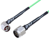 N Male to N Male Right Angle Low Loss Cable 36 Inch Length Using PE-P160LL Coax -- PE3C5285-36 -Image