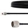 Slide-On BMA Plug Bulkhead to N Male Cable FM-SR141TBJ Coax in 24 Inch -- FMCA1625-24 -Image