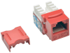 Cat6/Cat5e 110 Style Punch Down Keystone Jack - Red, 25-Pack, TAA -- N238-025-RD - Image