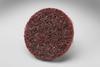 3M Scotch-Brite 7481 Non-Woven Aluminum Oxide Quick Change Disc - Medium Grade - 2 in Diameter - 07481 -- 051131-07481 - Image