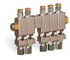 "Multiple Sight Feed Valve, 5 Valves, 1/8"" Female NPT Inlet, (5) 1/4"" OD Tube Outlets -- B3150-5"