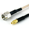 SMA Male to MMCX Male Cable RG-316 Coax in 48 Inch and RoHS -- SCA16316-48 -Image