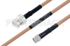 MIL-DTL-17 BNC Male to SMA Male Cable 24 Inch Length Using M17/128-RG400 Coax -- PE3M0061-24 -Image