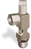 """(Formerly B1628-9X01), Angle Small Sight Feed Valve, 1/4"""" Female NPT Inlet, 1/4"""" Male NPT Outlet, Tamperproof -- B1628-134B1TW -- View Larger Image"""