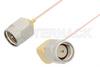 SMA Male to SMA Male Right Angle Cable 48 Inch Length Using PE-020SR Coax, RoHS -- PE34204LF-48 -Image