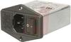 EMI POWER LINE FILTER, MULTI FUNCTION MODULE, W/IEC CONN, DBL FUSEHOLDR, W/VOLTG -- 70133400