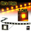 AMBER 3 CHIP STRIP LIGHT STRIPLIGHTS -- STRIP_3C_A