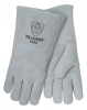 Tillman Gray Large Split Cowhide Leather/Cotton Welding Glove - 14 in Length - 608134-10000 -- 608134-10000