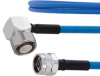 Plenum Low PIM RA 4.1/9.5 Mini DIN Male to N Male Cable SPP-250-LLPL Coax in 50 cm Using Times Microwave Parts and RoHS -- FMCA1888-50CM -Image