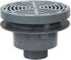 Area Drain with 12 in. Round Fixed Top, Grate Supported by Bucket -- FD-340-Y-SET -- View Larger Image