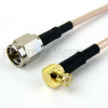 SMA Male (Plug) to RA MCX Plug (Male) Cable M17/113-RG316 Coax Up To 3 GHz, 1.35 VSWR in 60 Inch -- FMC0217316-60 -Image