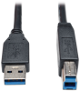 USB 3.0 SuperSpeed Device Cable (AB M/M) Black, 15-ft. -- U322-015-BK