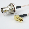 RA SMB Plug to BNC Female Bulkhead Cable RG-316 Coax in 12 Inch and RoHS -- FMC2638315LF-12 -Image