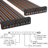 Rectangular Cable Assemblies -- A3DDB-5018M-ND -Image
