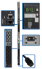 3-Phase Monitored PDU, 14.5kW, 48 200/208/220/230/240V outlets (42 C13, 6 C19), 6-ft. Hubbell CS8365C 50A input, 0U vertical mount, TAA Compliant -- PDU3VN6H50B