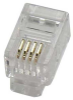 RJ22 4P4C Plug for Handset Flat Stranded Wire 100pk -- 68PG-RJ22