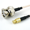 MCX Plug to BNC Male Cable RG-316 Coax in 48 Inch -- FMC0708315-48 -Image