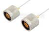 N Male to N Male Cable 6 Inch Length Using PE-SR047AL Coax -- PE34144-6 -Image