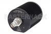 25 Watt RF Load Up To 18 GHz With TNC Female Input Round Body Black Anodized Aluminum Heatsink -- PE6208 -Image