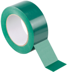 "Floor tape, green polyester, 2.00"" W x 100' L"