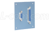 Universal Sub-Panel, One DB9 and One DB25 Feed-Thru -- USP-DB9-25FB