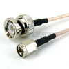 SMA Male to BNC Male Cable RG-316 Coax in 24 Inch and RoHS -- FMC0208315LF-24 -Image