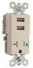 Combination Switch/Receptacle -- TR-8301USBW -- View Larger Image