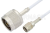 Reverse Polarity SMA Male to N Male Cable 48 Inch Length Using RG188 Coax, RoHS -- PE35225LF-48 -Image