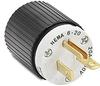 20A Electrical Plug: straight blade, 250VAC, NEMA 6-20 -- BRY5466NP
