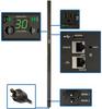2.9kW Single-Phase Switched PDU, LX Platform, Outlet Monitoring, 120V Outlets (24 NEMA 5-15/20R), L5-30P Plug, 0U, TAA -- PDUMVR30NETLX -- View Larger Image
