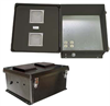 18x16x8 Inch 120VAC Black Vented Weatherproof Enclosure w/Solid State Controlled Heating System -- NBB181608-1HVS -Image