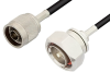 N Male to 7/16 DIN Male Cable 60 Inch Length Using RG58 Coax -- PE3207-60 -Image