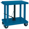 WESCO 2000- and 6000-Lb. Capacity Foot Pedal Operated Mobile Hydraulic Lift Tables -- 7149001