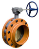 Butterfly Valve, Grooved, D.I. Nickle Plated, Gear Operator & Options