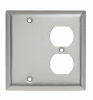 Combination Openings, 1 Blank & 1 Duplex Receptacle -- SS138 - Image