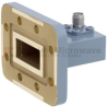 WR-90 to SMA Female Waveguide to Coax Adapter CPR-90G Grooved with 8.2 GHz to 12.4 GHz X Band in Copper, Paint -- FMWCA1007