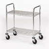 OLYMPIC Two-Shelf Double-Handle Round-Post Wire Utility Carts -- 4906400