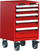 Heavy-Duty Mobile Cabinet, with Partitions -- R5BCD-3003 -Image