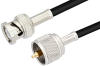 UHF Male to BNC Male Cable 12 Inch Length Using PE-C195 Coax -- PE38674-12 -- View Larger Image