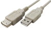 3' USB 2.0 Extension Cable, A-A, M-F, Ivory -- 150109IV