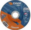 Weiler TIGER Zirconia Alumina Cutting Wheel - Type 27 - Depressed Center Wheel - 5 in Diameter - 7/8 in Center Hole - Thickness.045 in - 58021 -- 012382-58021 - Image