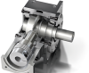 Graessner The Dynamic Right Angle Servo Gearbox -- DynaGear D75