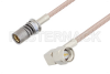 Snap-On BMA Jack to SMA Male Right Angle Cable 6 Inch Length Using RG316 Coax -- PE3C4943-6 -Image
