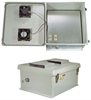 20x16x11 Inch 120VAC Weatherproof Enclosure w/ Dual Cooling Fans and Heating System -- NB201611-1HF -Image