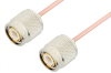 TNC Male to TNC Male Cable 18 Inch Length Using RG405 Coax -- PE33391-18 -Image