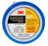 3M™ Polyethylene Film Tape 483 Blue, 1 in x 36 yd 5.3 mil, 36 Individually wrapped rolls per case Conveniently Packaged -- 483