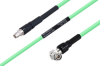 Temperature Conditioned SMA Male to TNC Male Right Angle Low Loss Cable 36 Inch Length Using PE-P300LL Coax -- PE3M0228-36 -Image